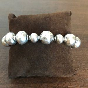 Silapda Sterling Silver Beaded Bracelet